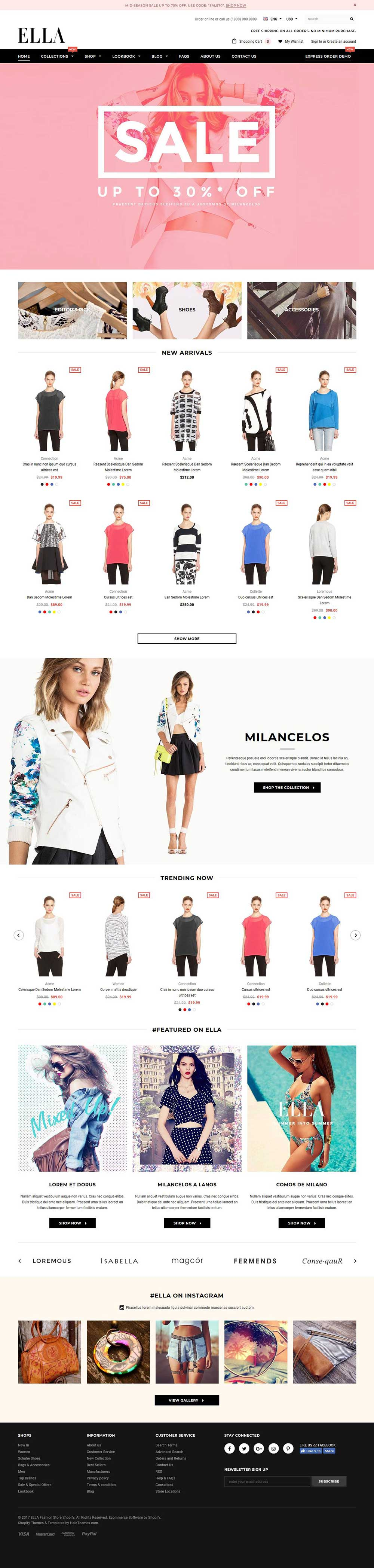 30+ Best Shopify themes 2018 with beautiful design for eCommerce ...