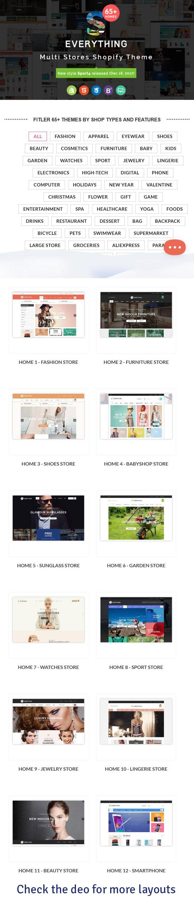 Everything - Multipurpose Premium Responsive Shopify Themes - Fashion, Electronics, Cosmetics